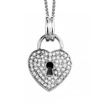Silver 1/4 ctw Diamond Pendant /FP1171