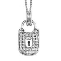 Silver 1/4 ctw Diamond Pendant /FP1172