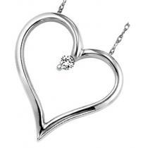 Silver Diamond Heart/FP1178