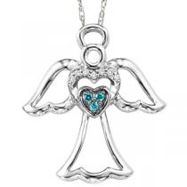 Silver  Diamond Pendant / FP1245