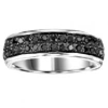 Silver Black Diamond Band 1 ctw/FR1364