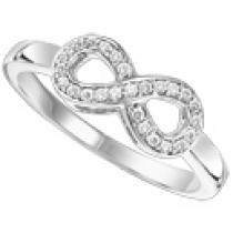White Gold  Diamond Infinity Ring 1/2 ctw :  FR1392