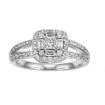1/2 ctw Diamond Ring in 14K White Gold / FR4057