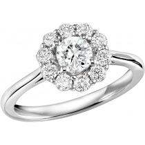 14K White Gold Diamond Semi Mount Rring 1/2 ctw : FR4066E