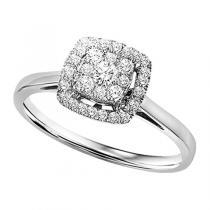 1/2 ctw Diamond Ring in 14K White Gold / FR4070