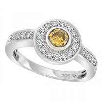 1/2 ctw Brown & White Diamond Ring in 14K White Gold / FR4086