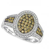 3/8 ctw Brown & White Diamond Ring in 10K White Gold / FR4087