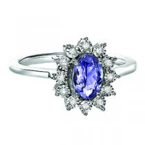 Silver Diamond Tanzanite Ring / FR4099T