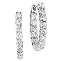3 ctw Diamond Earrings in 14K White Gold / HDER127LW