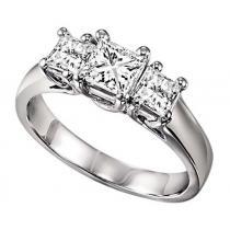 1 ctw Three Stone Diamond Ring in 14K White Gold/HDR1090LW