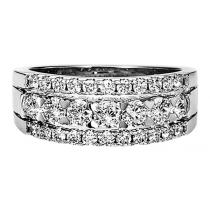 1 ctw Diamond Ring in 14K White Gold/HDR1427WA
