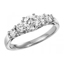 14K white gold Diamond Engagement Ring 1/2 ctw : HDR1468E