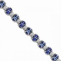 14K White Gold Diamond & Tanzanite Bracelet / JB2417WTC