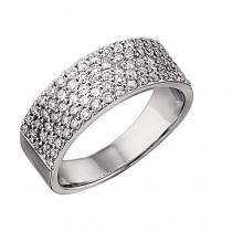 1 ctw Diamond Ring in 14K White Gold/LRD0266