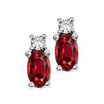 Ruby & Daimond Earrings set in 14K Gold