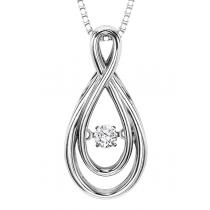 Rhythm of Love Pendant in 14K WG - 1/10 ctw / ROL1008