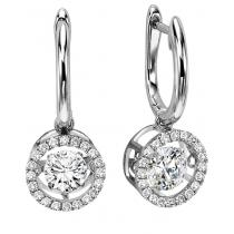 Rhythm of Love Earrings in 14K WG - 3/4 ctw / ROL1014