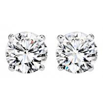 1/4 ctw Diamond Solitaire Earrings in 14K White Gold / SE3025FW