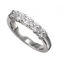 1/2 ctw Five Stone Diamond Ring in 14K White Gold/SS5077W