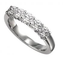 1 ctw Five Stone Diamond Ring in 14K White Gold/SS5079W