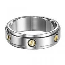 Men's Ring in Titanium and 14K Yellow Gold/TI1012