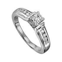 14K White Gold Diamond Engagement 1/7 ctw : WB5631E Semi
