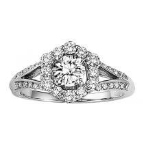 14K white Gold Diamond Engagement  Ring1/2 ctw : WB5689E Semi