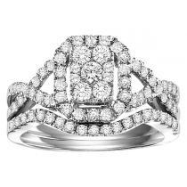 1 ctw Diamond Bridal Set in 14K White Gold/WB5760E