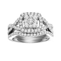 1 ctw Diamond Bridal Set in 14K White Gold/WB5764E