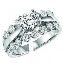 White Gold Diamond Engagement ring 1 ctw :WB5783E