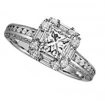 Gold Diamond Engagement Ring 1 ctw / WB5787E