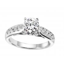 3/8 ctw Diamond Engagement Ring in 14K White Gold/WB5799E