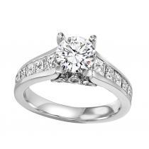 14K White Gold Diamond Semi Mount  ring 1 1/2 ctw : WB5801E- Semi