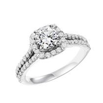 14K White Gold Diamond Semi Mount  ring 3/4 ctw : WB5873E- Semi