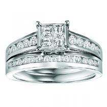 Gold Diamond Engagement Ring Set 1 ctw / WB5784E&W