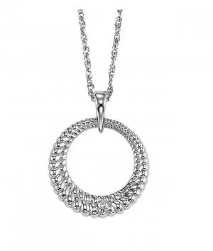 Silver Diamond Earrings / SER2045