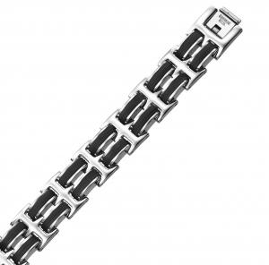 Steel and Rubber Bracelet / AMS1019