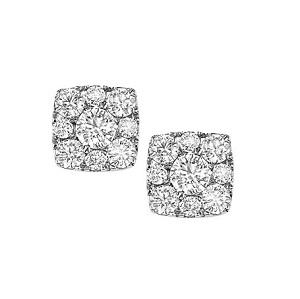 1 ctw Diamond Earrings in 14K White Gold /FE1097AW