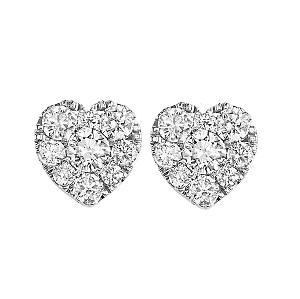 1 ctw Diamond Earrings in 14K White Gold /FE1099AW