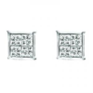 Gold and Diamond Quad Set Earrings 1/4ctw: FE1161