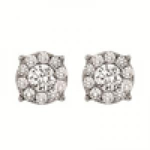 Gold and Diamond Certified Earrings 1/2ctw: FE1165