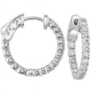 14K Diamond Earrings 1 1/2 ctw/FE1185LW
