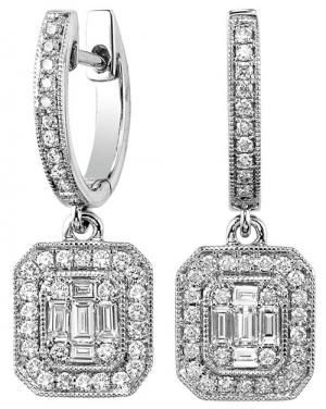 14K Gold Diamond Earrings 3/4 ctw/FE4113