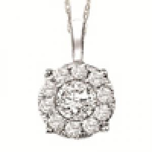 Gold and Diamond Certified Pendant 1 ctw: FP1236