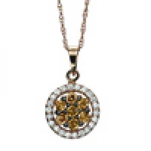 1/3 ctw Brown & White Diamond Pendant in 14K White Gold/FP4081P