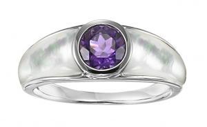 Amethyst Ring in Sterling Silver / FR1301