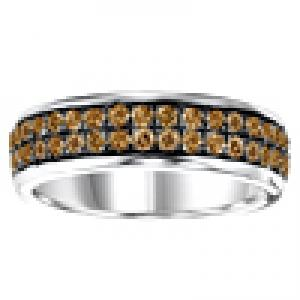Silver Brown Diamond Band 1 ctw/FR1365