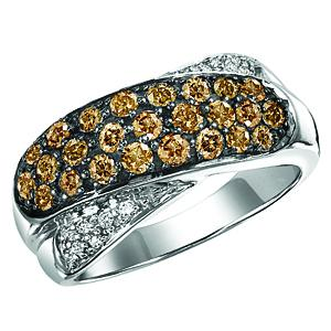 Silver Brown Diamond Band 1 ctw/FR1369