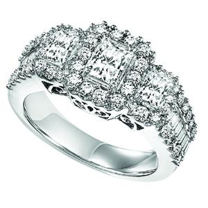 Gold and Diamond Band 2 ctw : FR1379