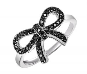 Silver BlACK Diamond Ring 1/4 ctw :  FR1388